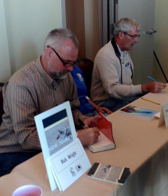 Rick signing books at Cape May